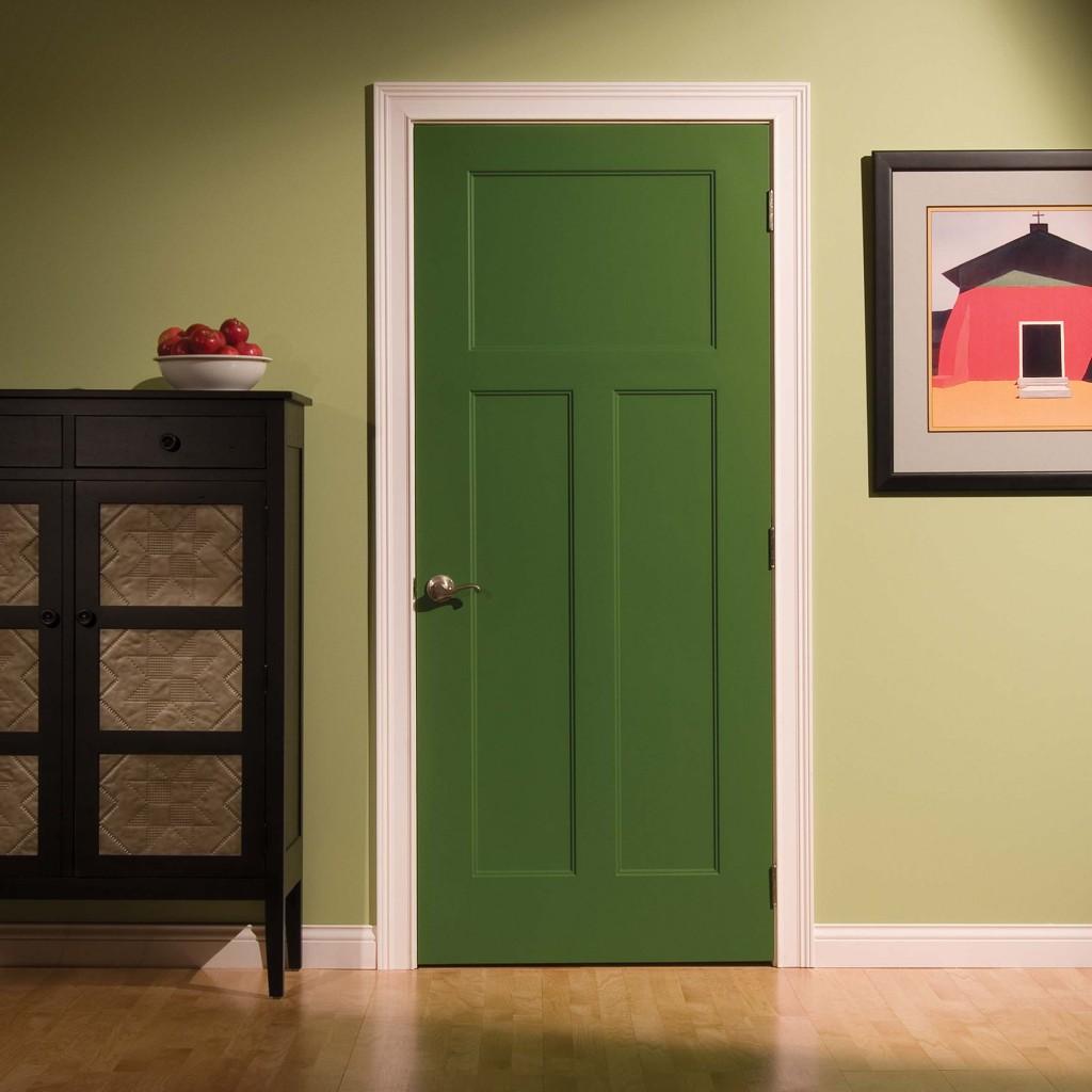 окраска входных дверей