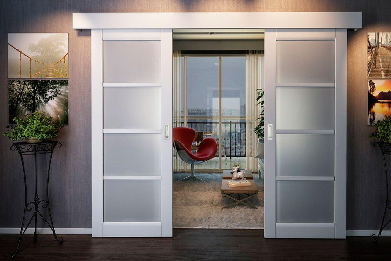 двери купе в гостиную фото
