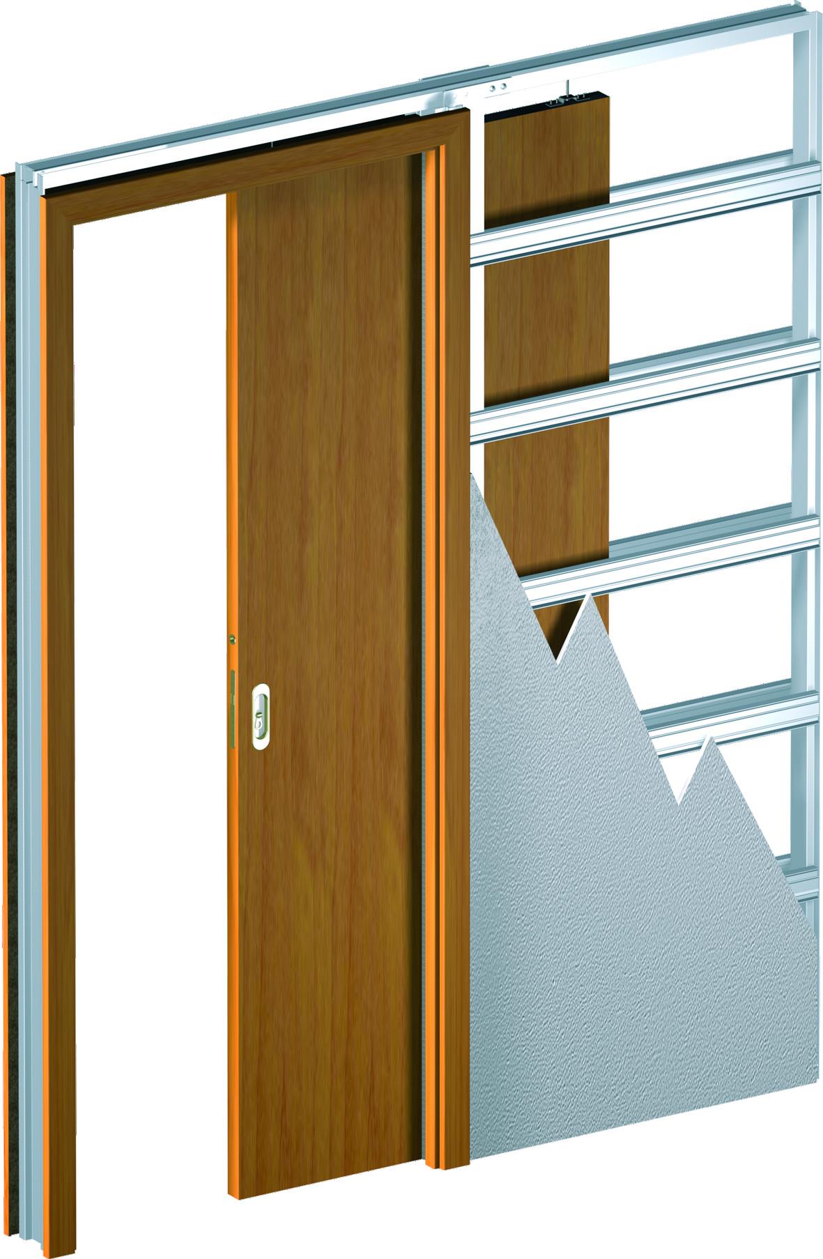 Раздвижные задвижные в стену двери, межкомнатные двери 311